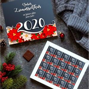 Šokolādes komplekts Penālis 20 ar logo