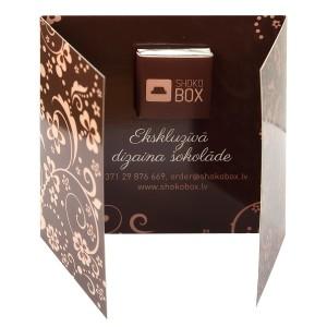 Atklātne ar šokolādes tāfelīti ar jūsu logo